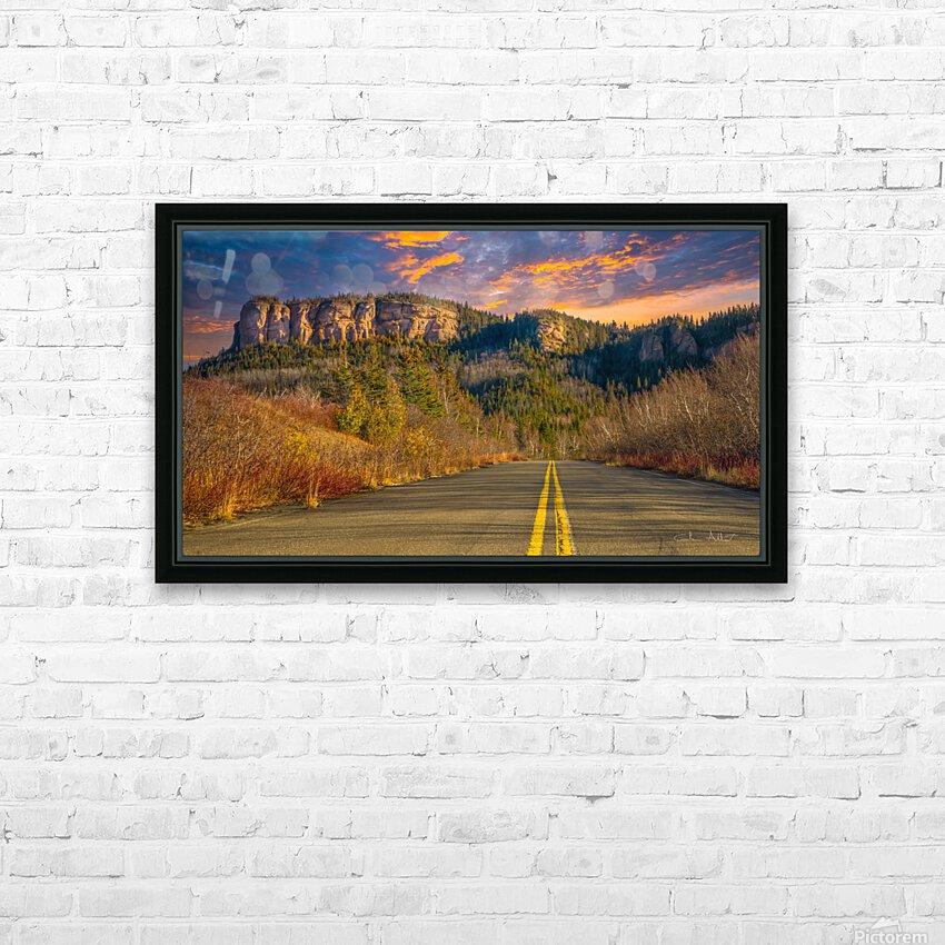Route des Failles - La crevasse HD Sublimation Metal print with Decorating Float Frame (BOX)