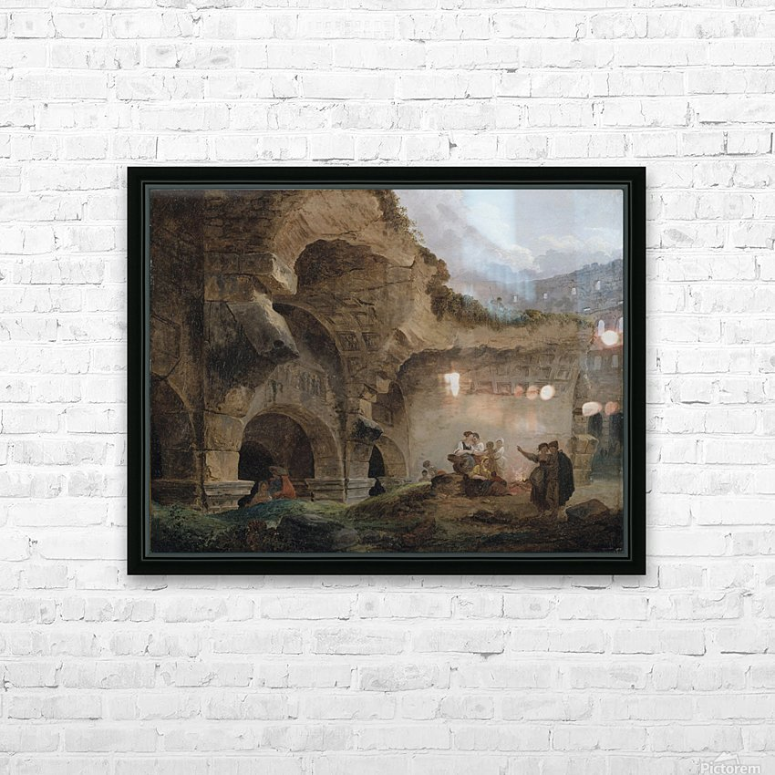 Washerwomen in the Ruins of the Colosseum HD Sublimation Metal print with Decorating Float Frame (BOX)