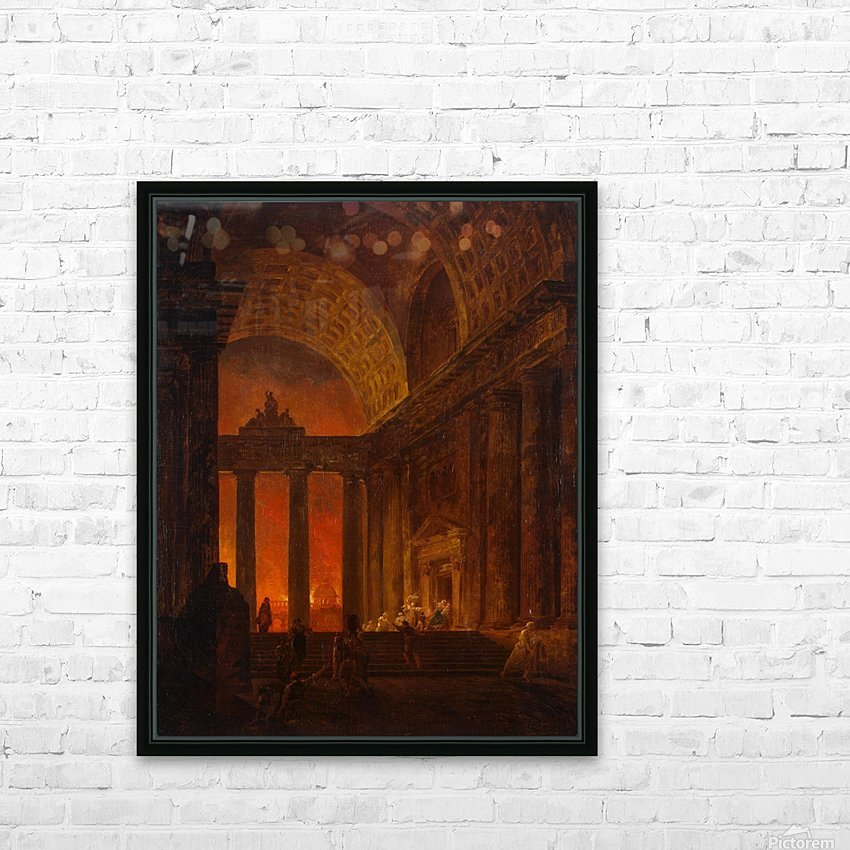 Fire in Rome HD Sublimation Metal print with Decorating Float Frame (BOX)