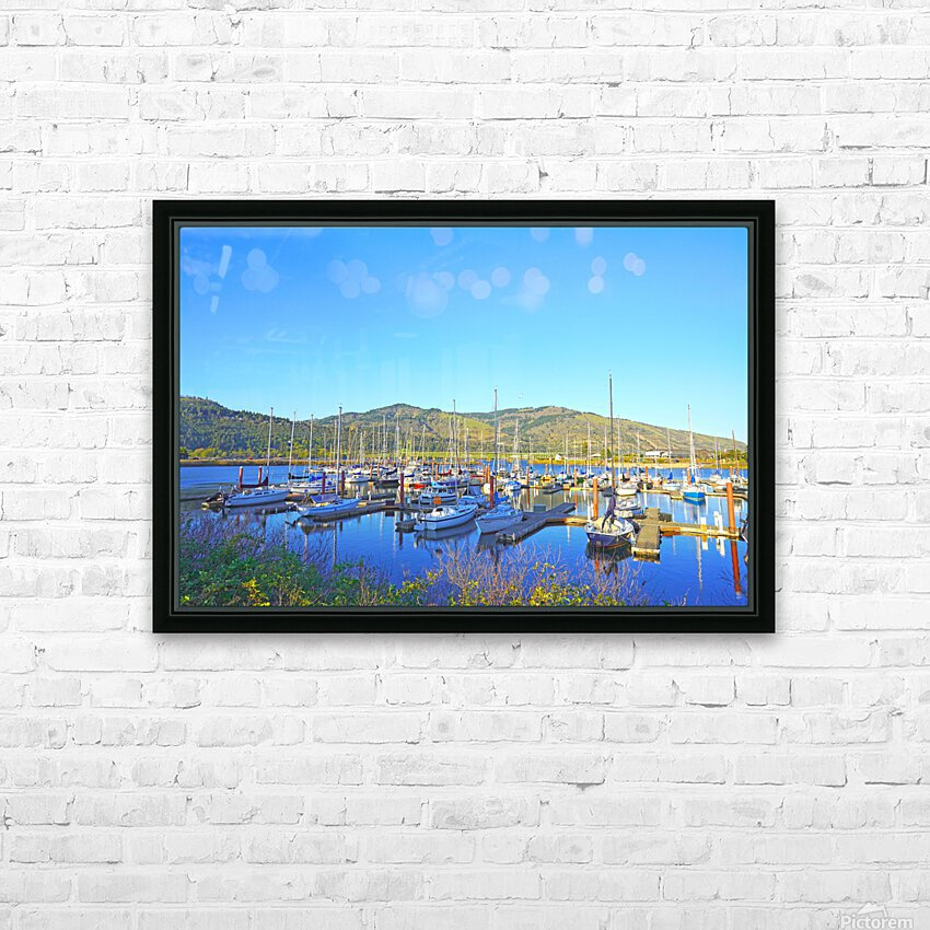Perfect Day at Hood River Marina   Oregon HD Sublimation Metal print with Decorating Float Frame (BOX)