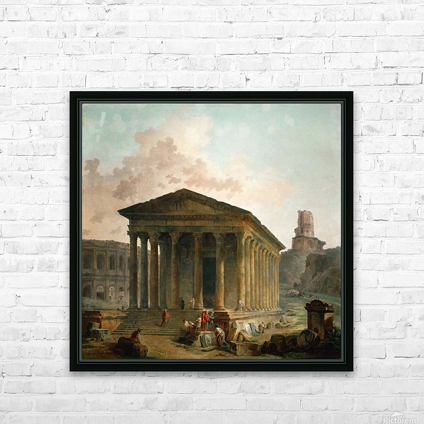 Antic ruins with figures HD Sublimation Metal print with Decorating Float Frame (BOX)