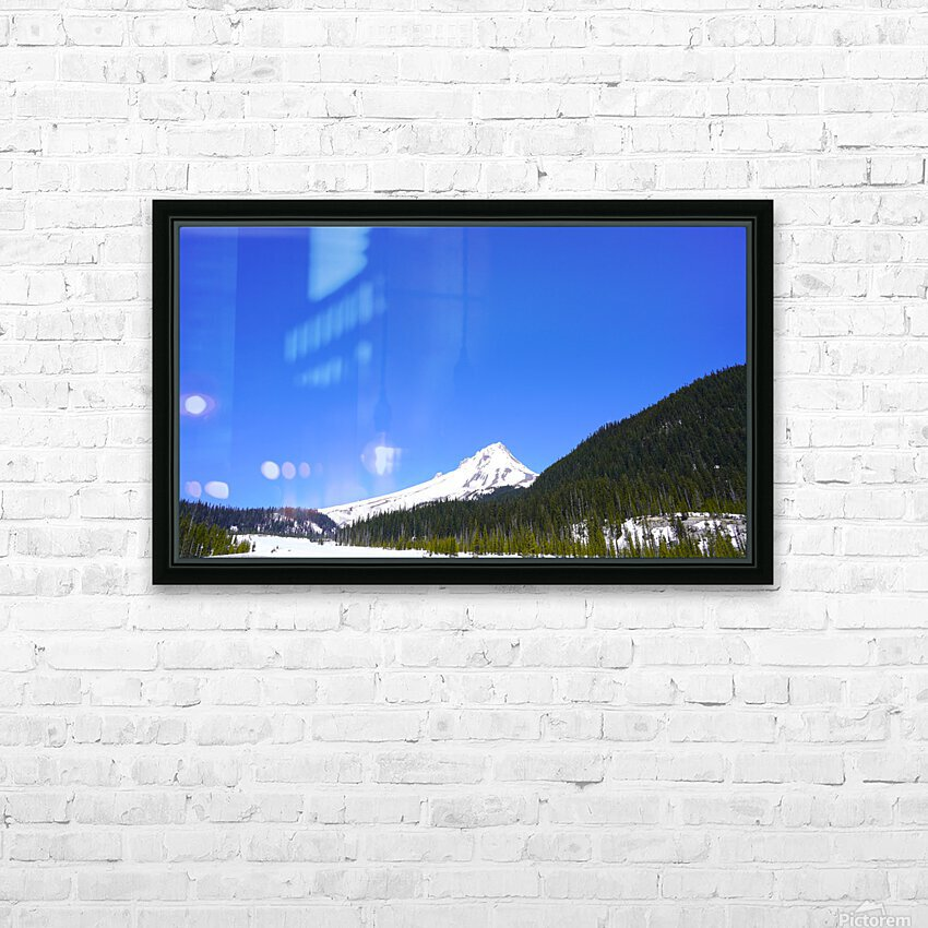 Clear Day in the Mountains - Mount Hood  - Oregon HD Sublimation Metal print with Decorating Float Frame (BOX)