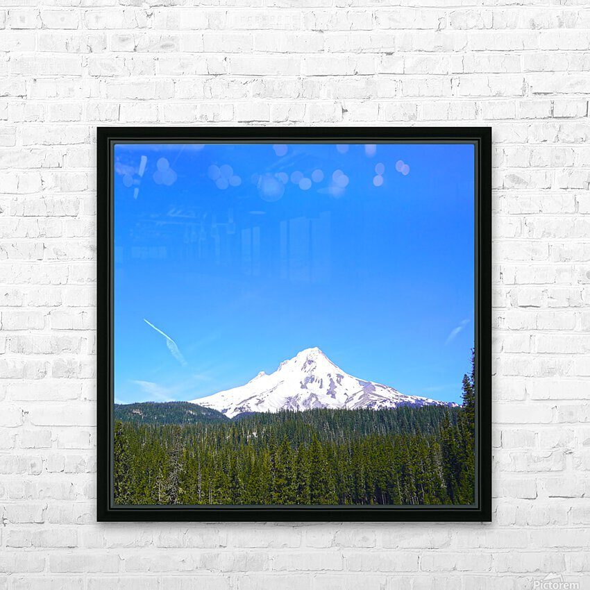 Mount Hood in Spring HD Sublimation Metal print with Decorating Float Frame (BOX)