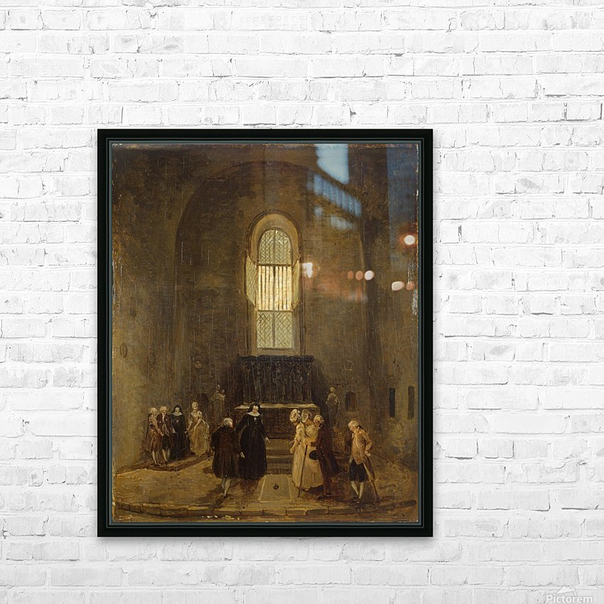 Examining an Old Church HD Sublimation Metal print with Decorating Float Frame (BOX)