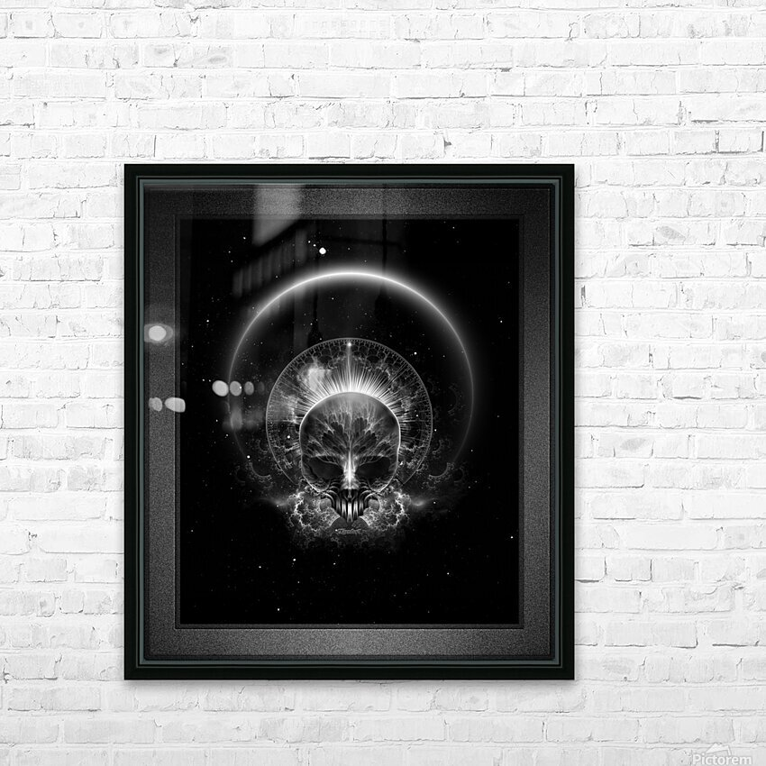 Gothic Skull Blaze Abstract Digital Art Composition HD Sublimation Metal print with Decorating Float Frame (BOX)