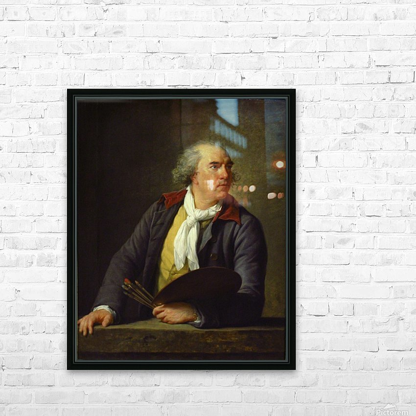 Portrait of Hubert Robert, 1788 HD Sublimation Metal print with Decorating Float Frame (BOX)
