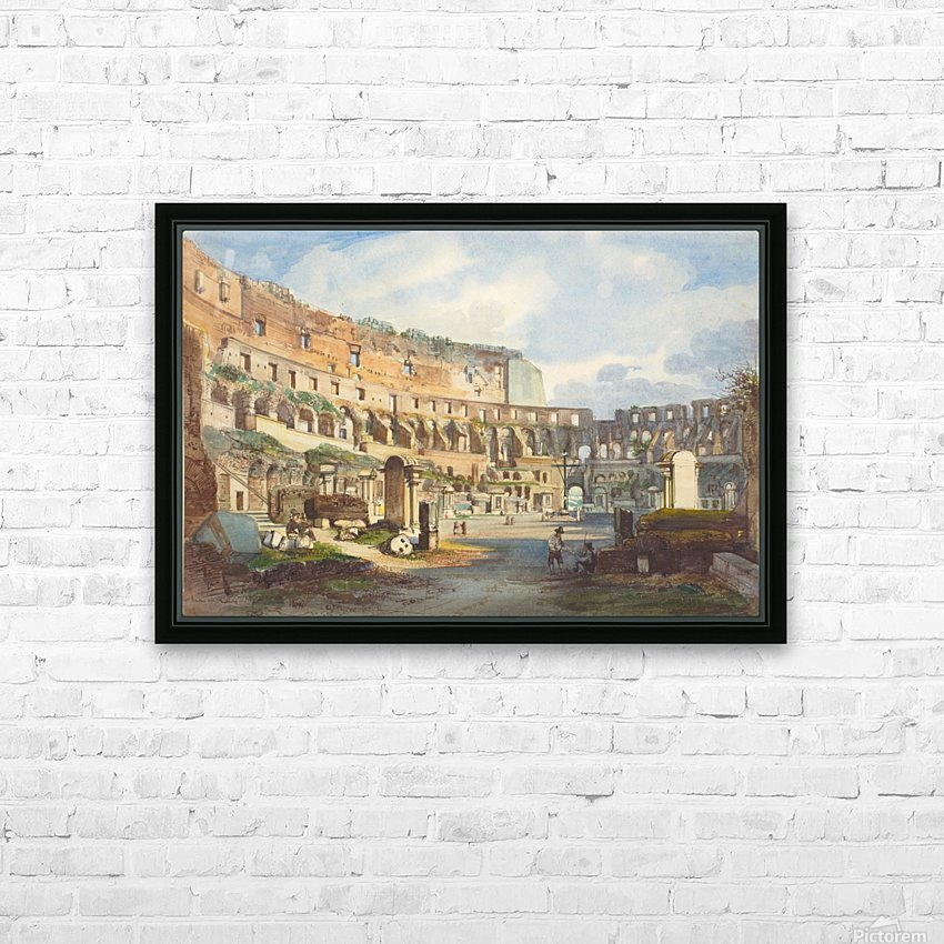 Colosseum, Rome HD Sublimation Metal print with Decorating Float Frame (BOX)