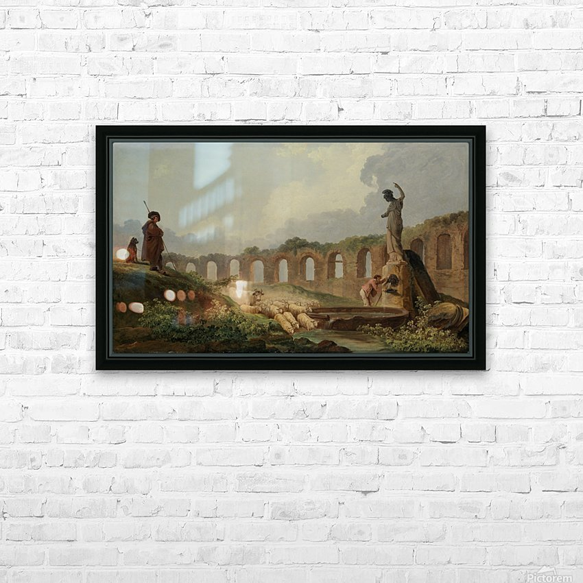 Aqueduct in Ruins HD Sublimation Metal print with Decorating Float Frame (BOX)