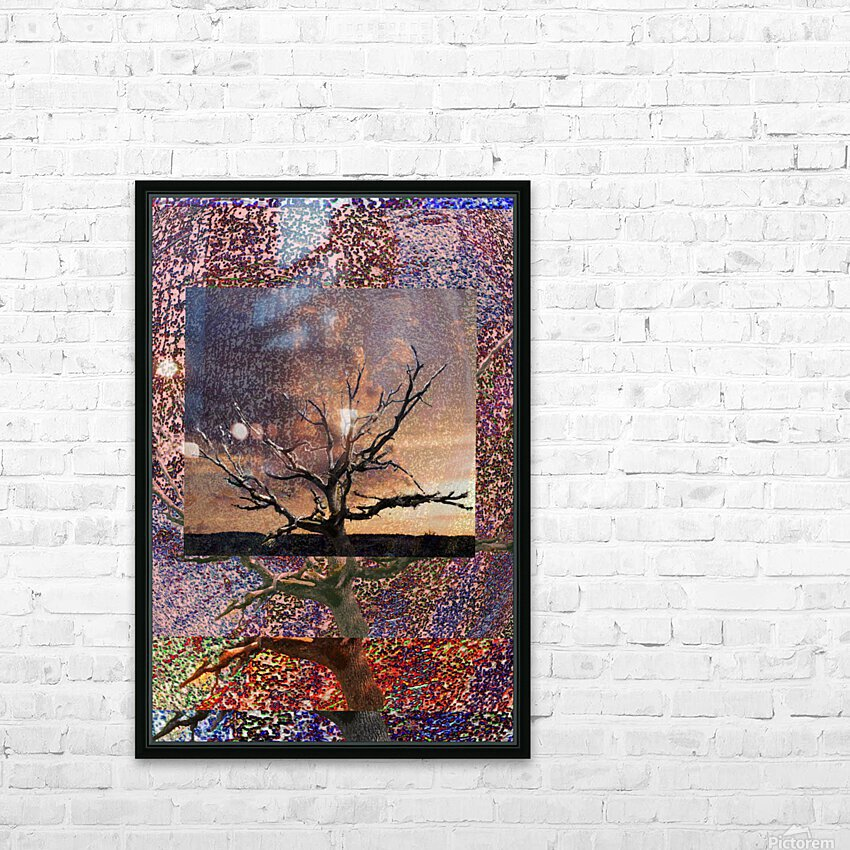 Tree Layers 5 HD Sublimation Metal print with Decorating Float Frame (BOX)