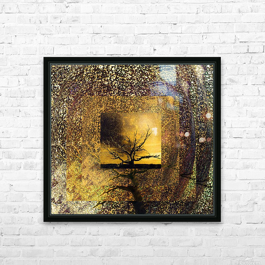 Tree Layers 7 HD Sublimation Metal print with Decorating Float Frame (BOX)