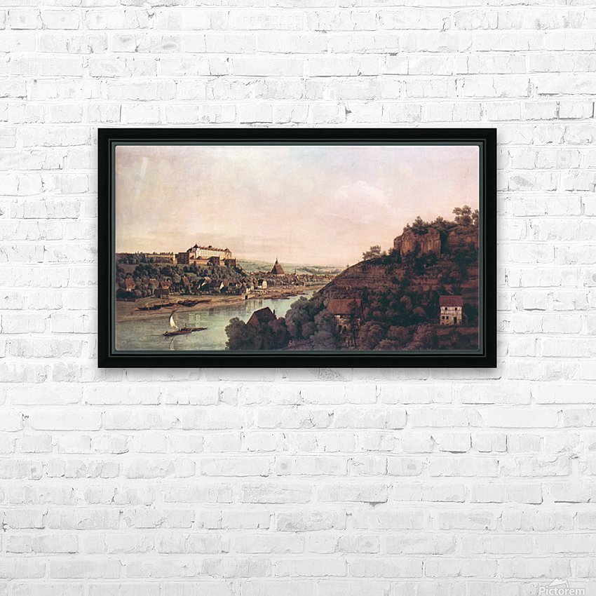 View of Pirna -1- by Canaletto HD Sublimation Metal print with Decorating Float Frame (BOX)