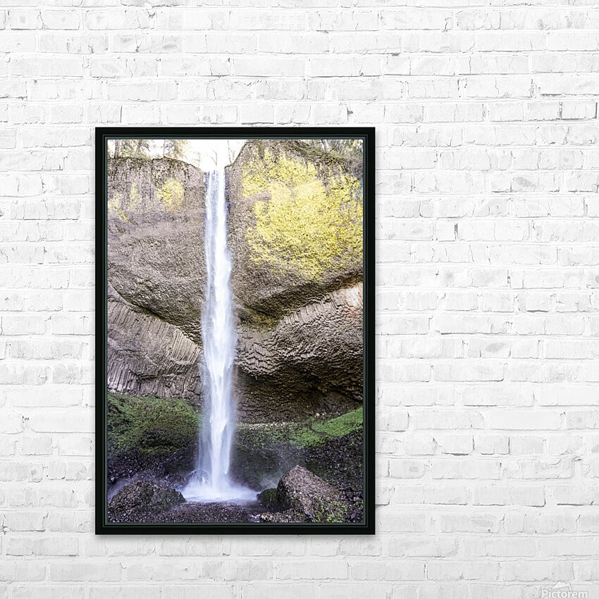 Spring at the Falls in The Gorge - Columbia River Oregon HD Sublimation Metal print with Decorating Float Frame (BOX)