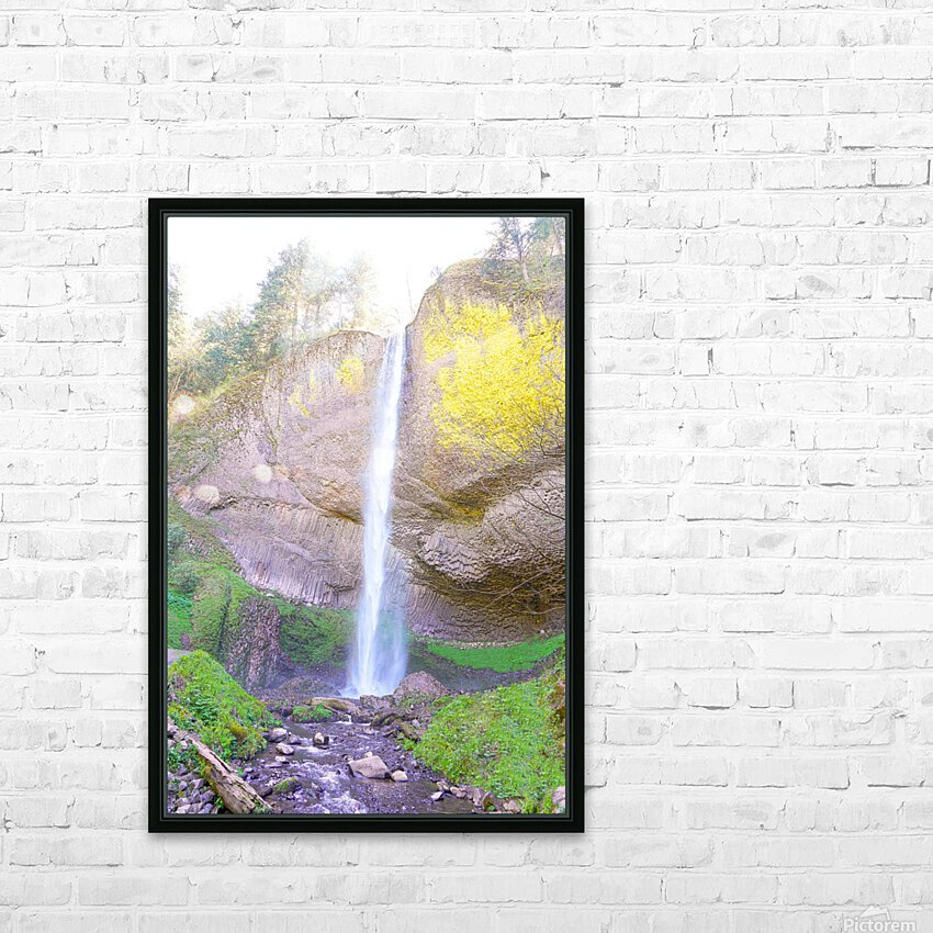 Majestic Falls in the Gorge   Columbia River Oregon HD Sublimation Metal print with Decorating Float Frame (BOX)