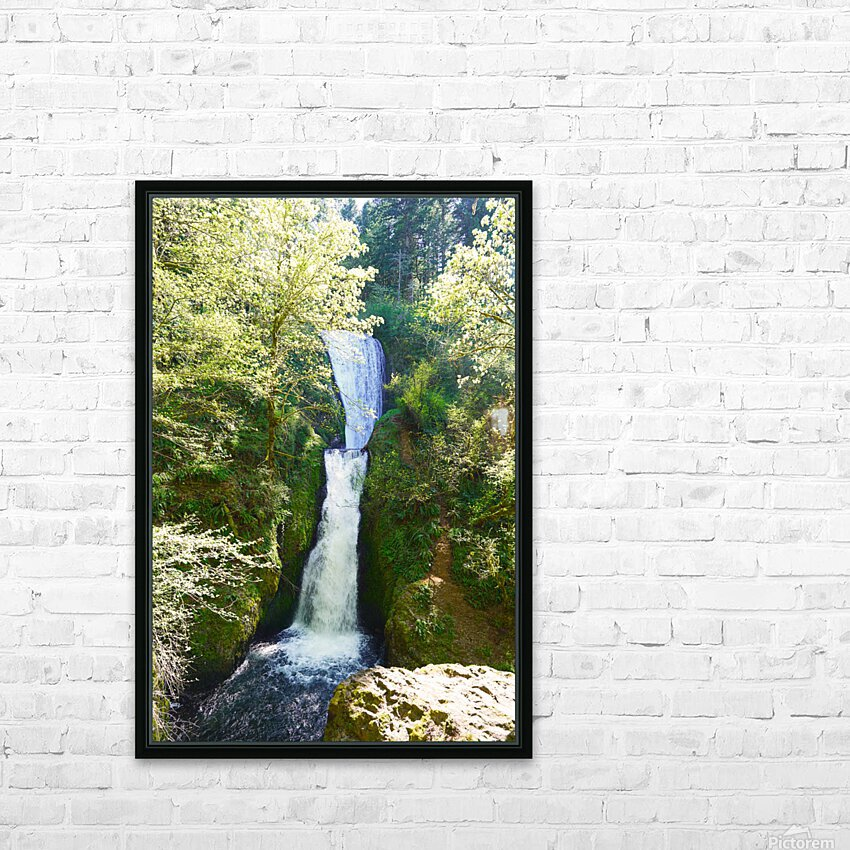 Falls in The Gorge 2   Columbia River Oregon HD Sublimation Metal print with Decorating Float Frame (BOX)