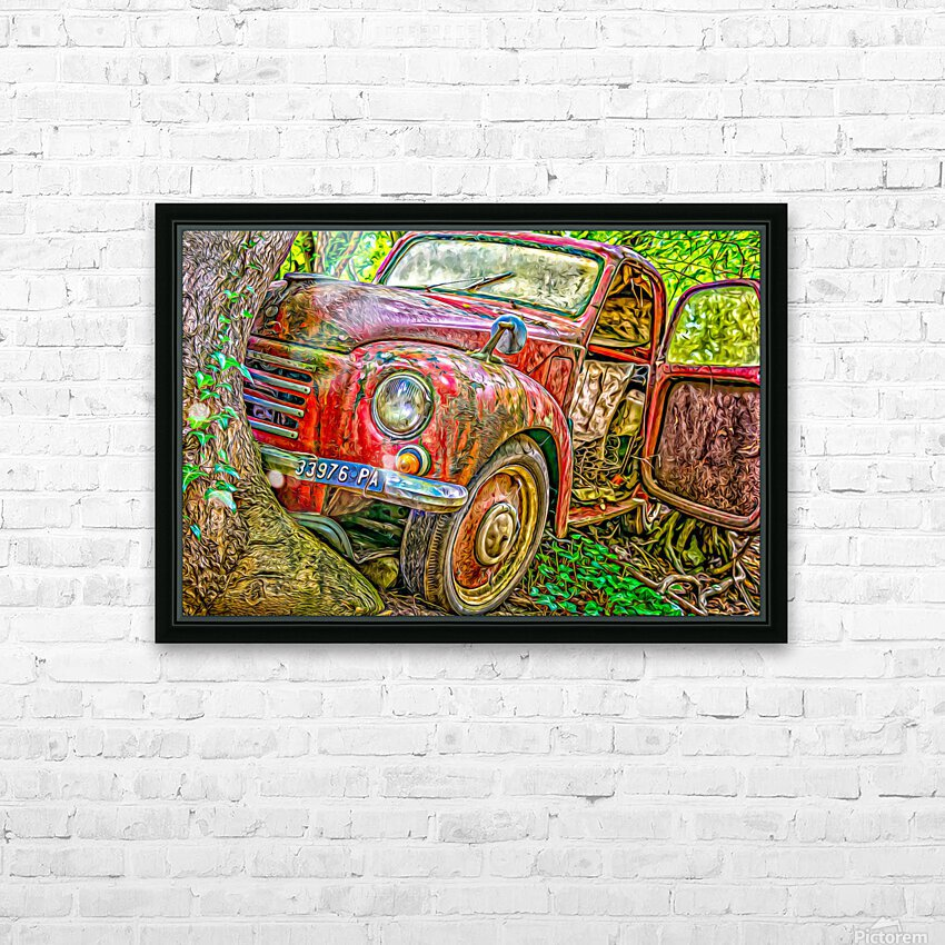 Old Pickup HD Sublimation Metal print with Decorating Float Frame (BOX)
