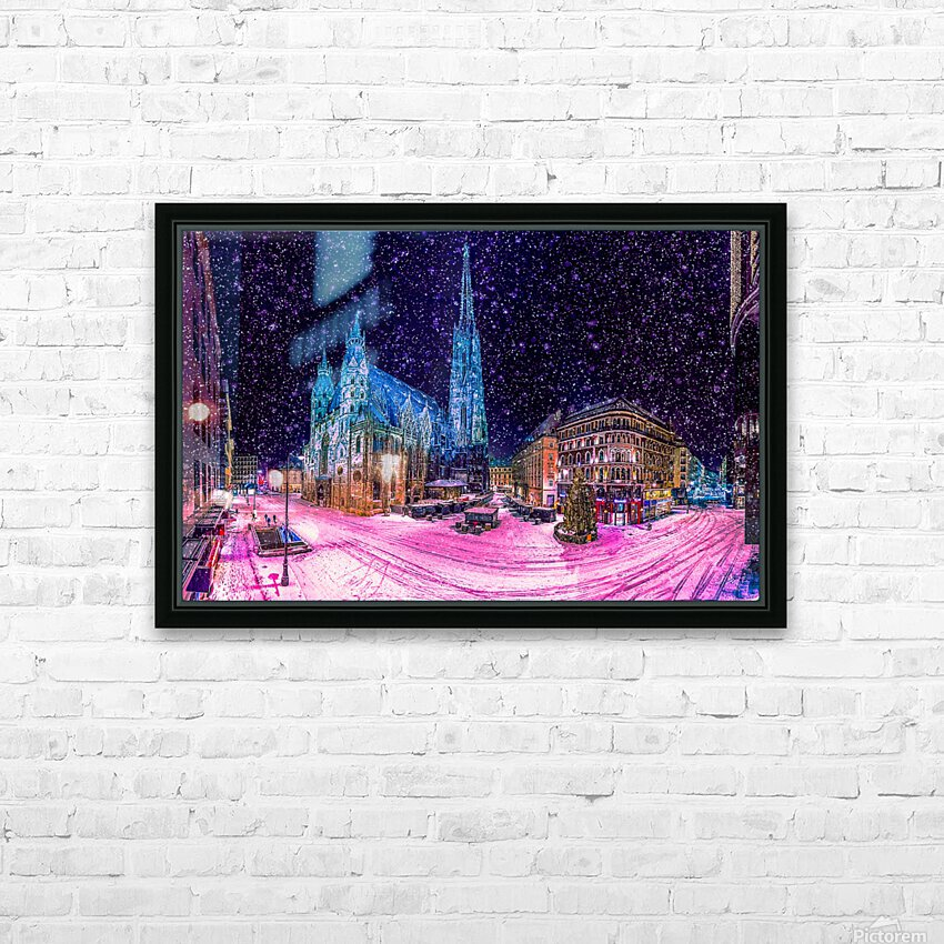 Christmas in Vienna HD Sublimation Metal print with Decorating Float Frame (BOX)