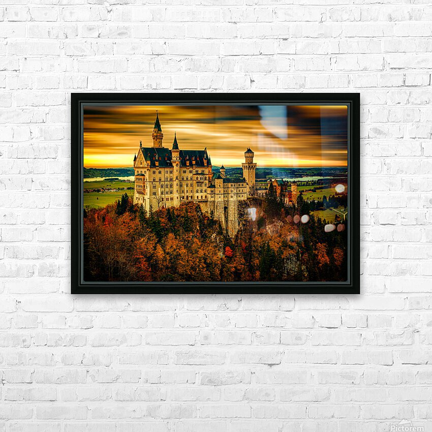 Fairytale Castle HD Sublimation Metal print with Decorating Float Frame (BOX)