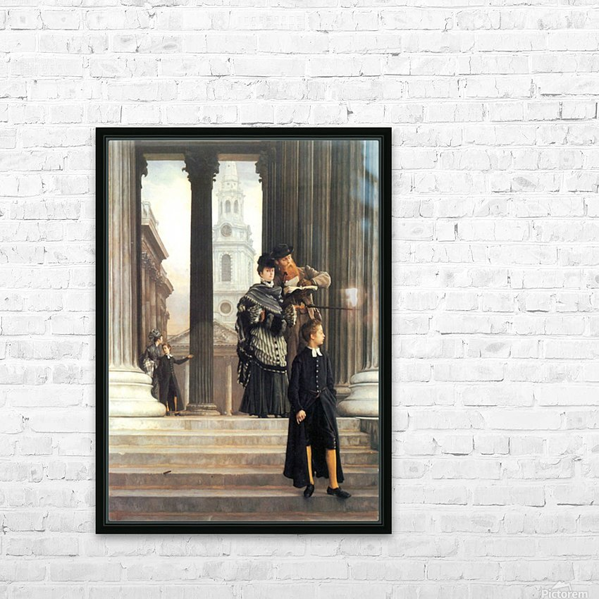 Visitors in London by Tissot HD Sublimation Metal print with Decorating Float Frame (BOX)
