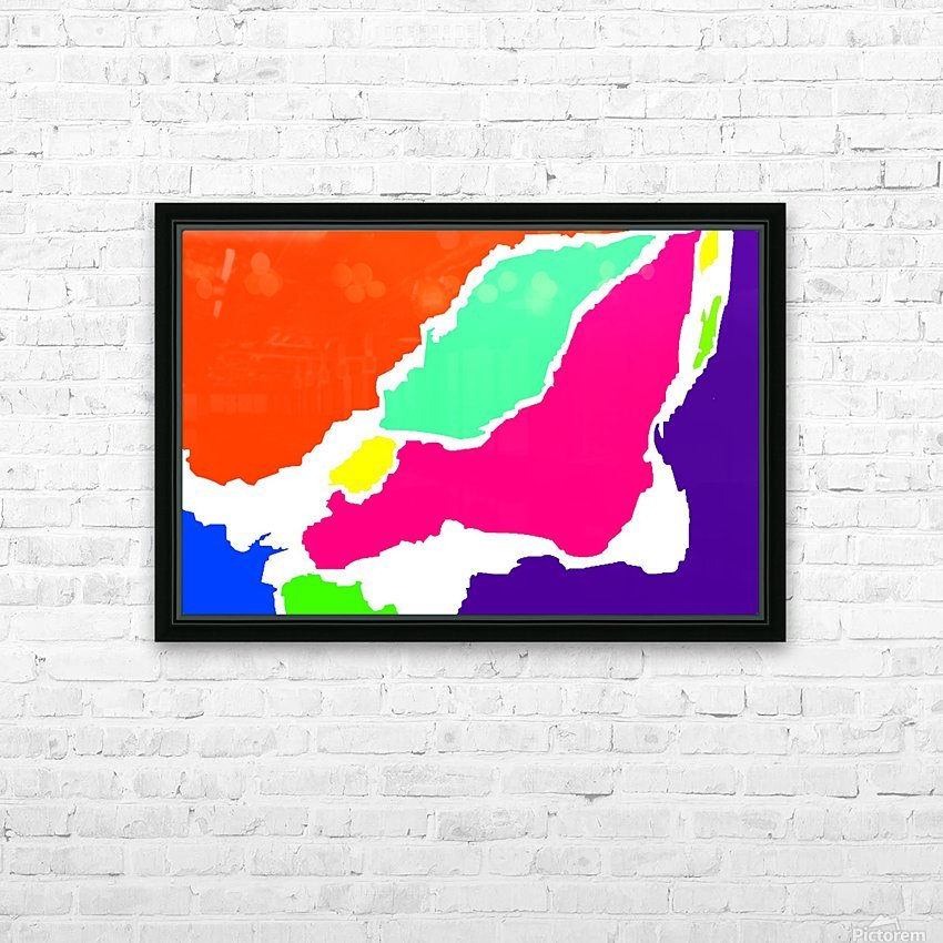 Montreal Map WBG  HD Sublimation Metal print with Decorating Float Frame (BOX)