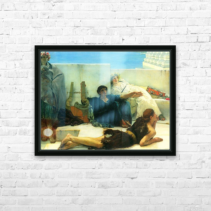 A reading of Homer, detail -1- by Alma-Tadema HD Sublimation Metal print with Decorating Float Frame (BOX)