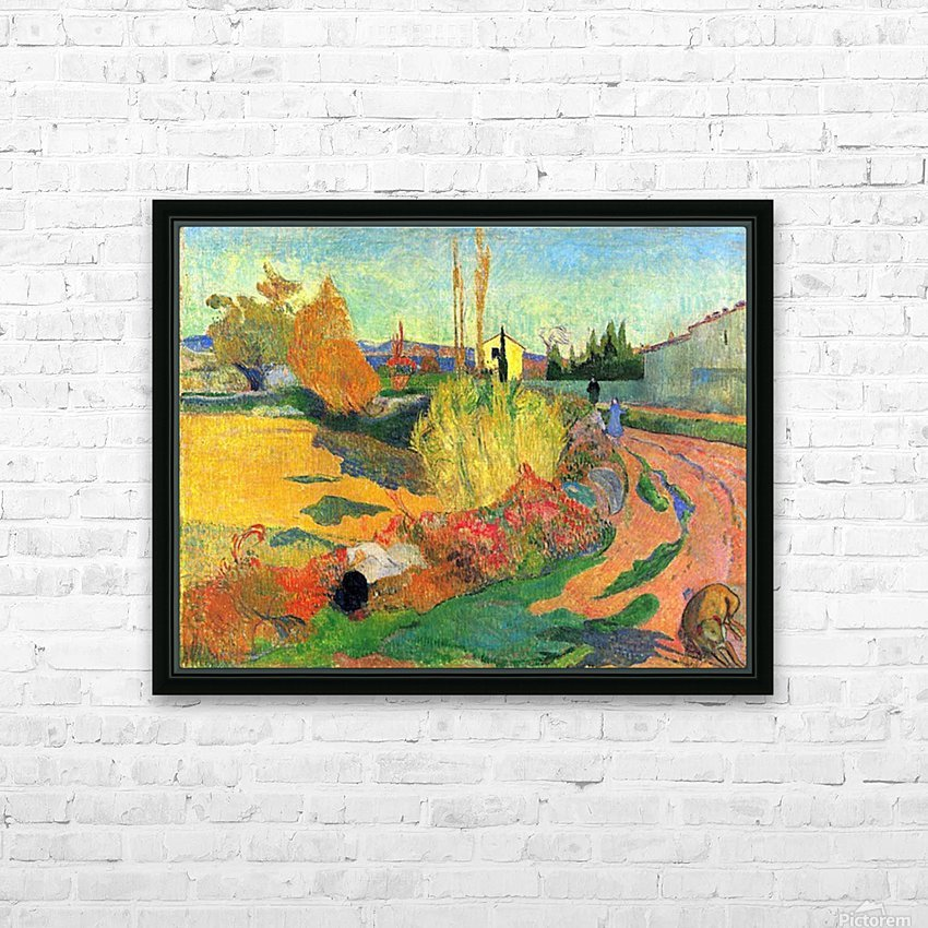 Von Arles by Gauguin HD Sublimation Metal print with Decorating Float Frame (BOX)