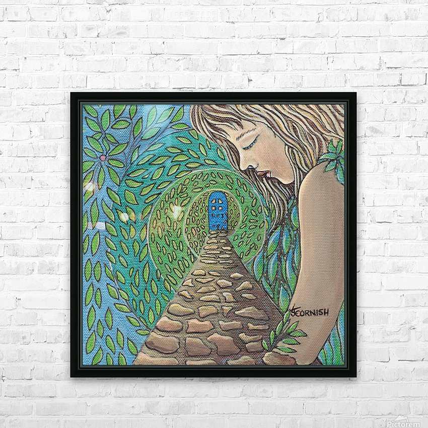 The Growing Garden HD Sublimation Metal print with Decorating Float Frame (BOX)
