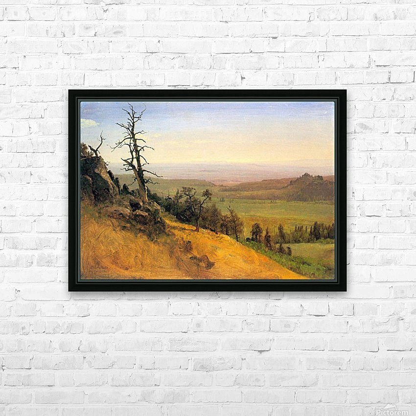 Wasatch Mountains Nebraska by Bierstadt HD Sublimation Metal print with Decorating Float Frame (BOX)