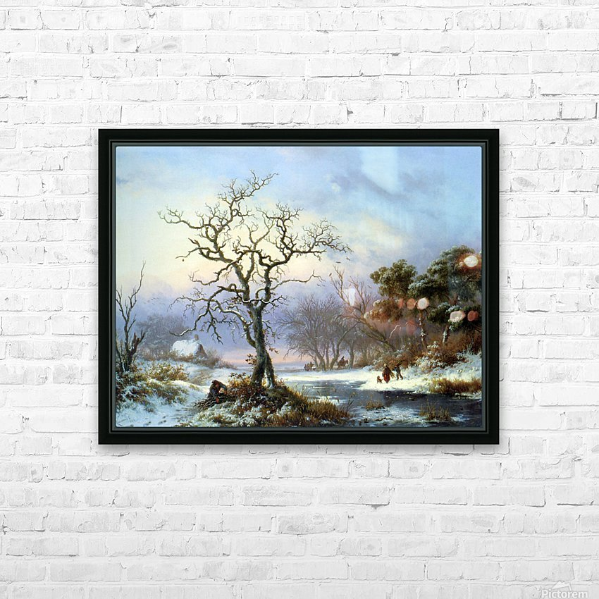 Faggot Gatherers in a Winter Landscape HD Sublimation Metal print with Decorating Float Frame (BOX)
