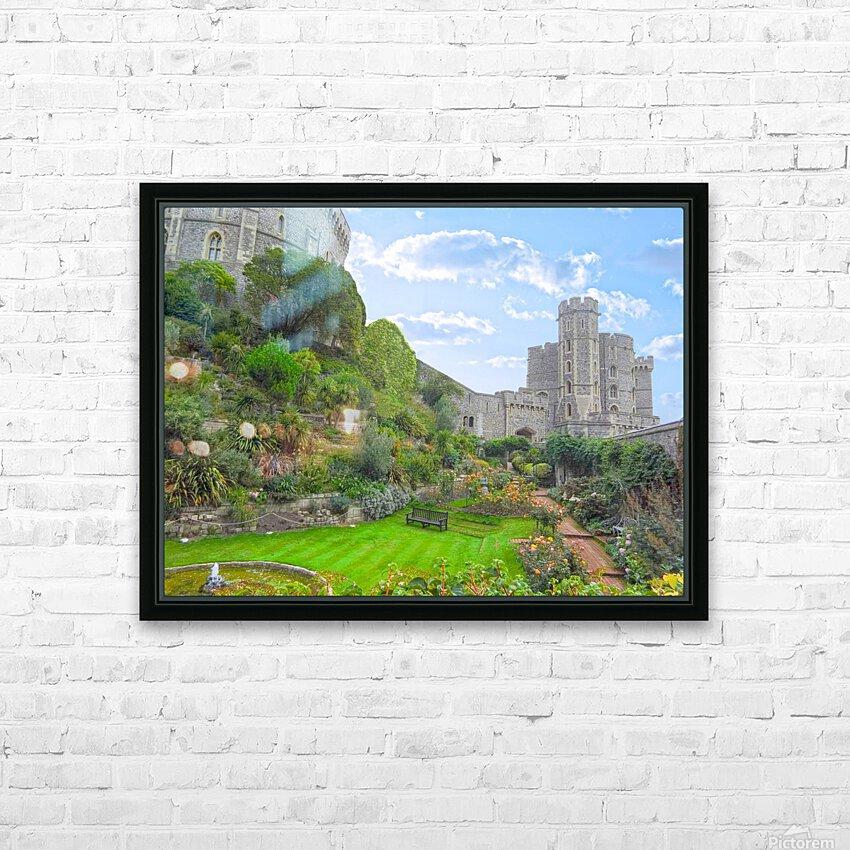 Windsor Castle Under Beautiful Blue Skies - Berkshire United Kingdom HD Sublimation Metal print with Decorating Float Frame (BOX)