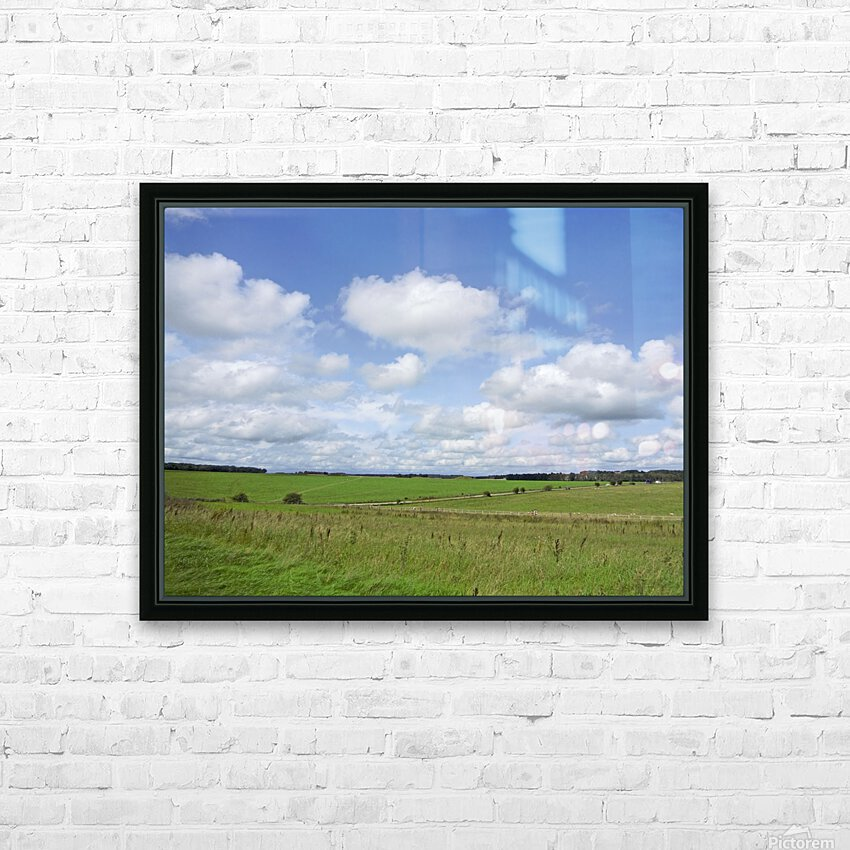 Salisbury Plain on the Road to Stonehenge HD Sublimation Metal print with Decorating Float Frame (BOX)