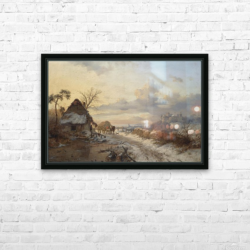 A Winter Day HD Sublimation Metal print with Decorating Float Frame (BOX)