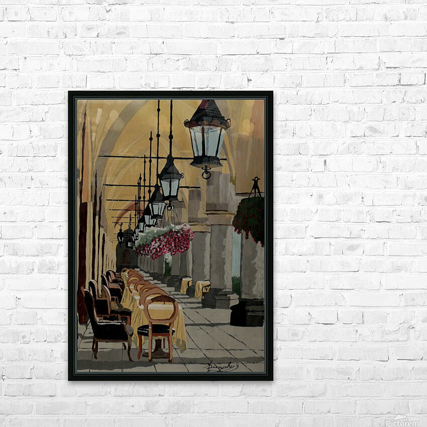 A Place in the Shade HD Sublimation Metal print with Decorating Float Frame (BOX)