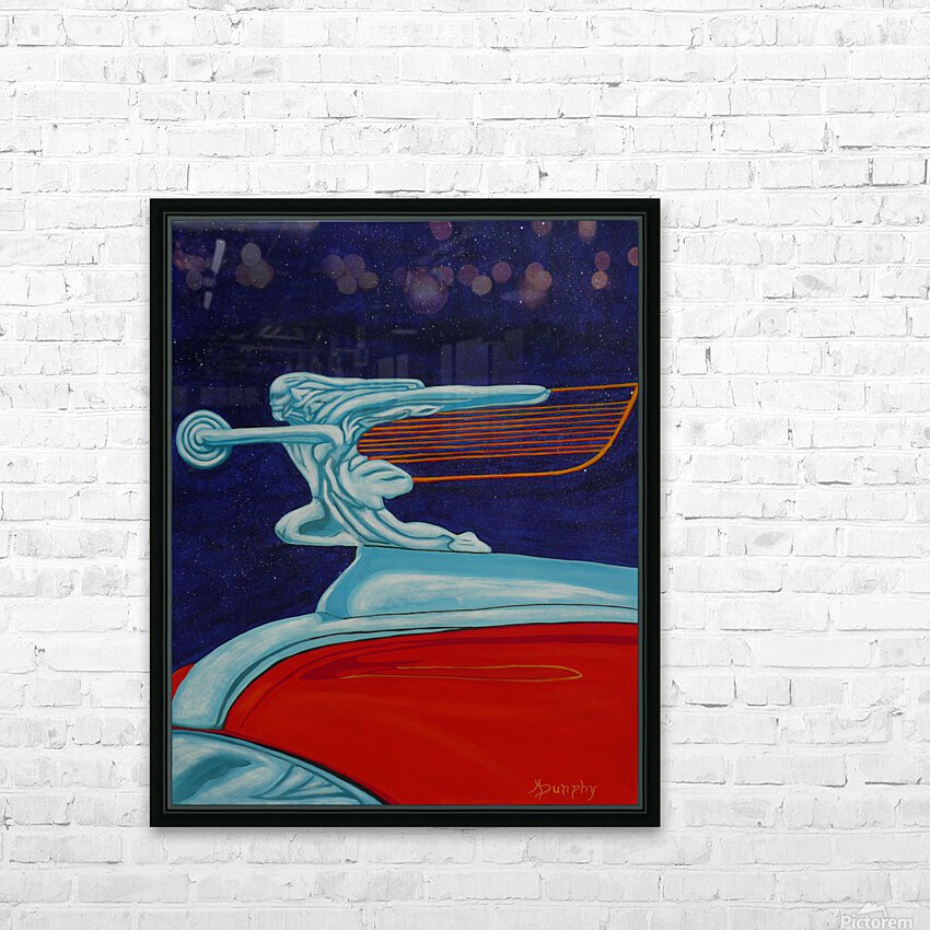 art deco car HD Sublimation Metal print with Decorating Float Frame (BOX)