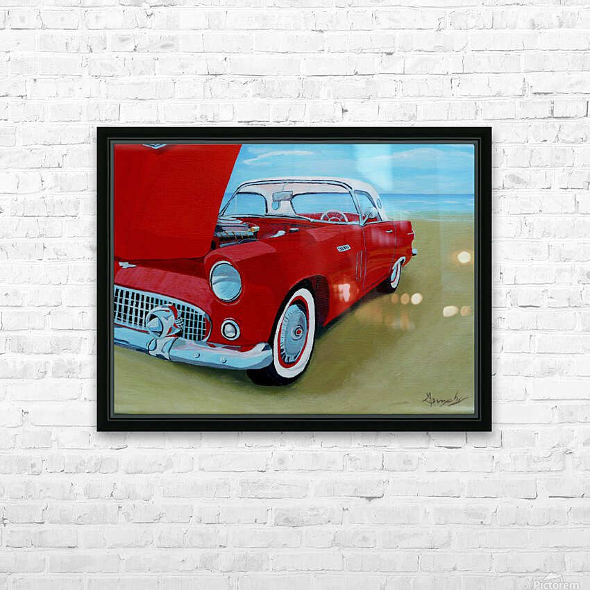 Beach T Bird HD Sublimation Metal print with Decorating Float Frame (BOX)