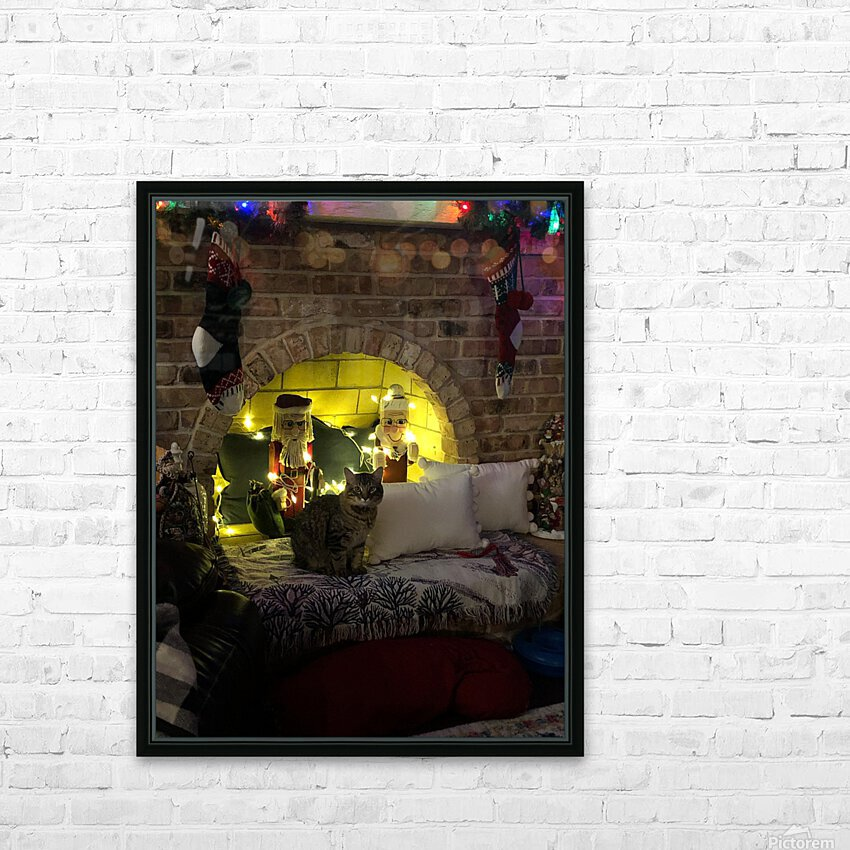 Christmas Cat HD Sublimation Metal print with Decorating Float Frame (BOX)