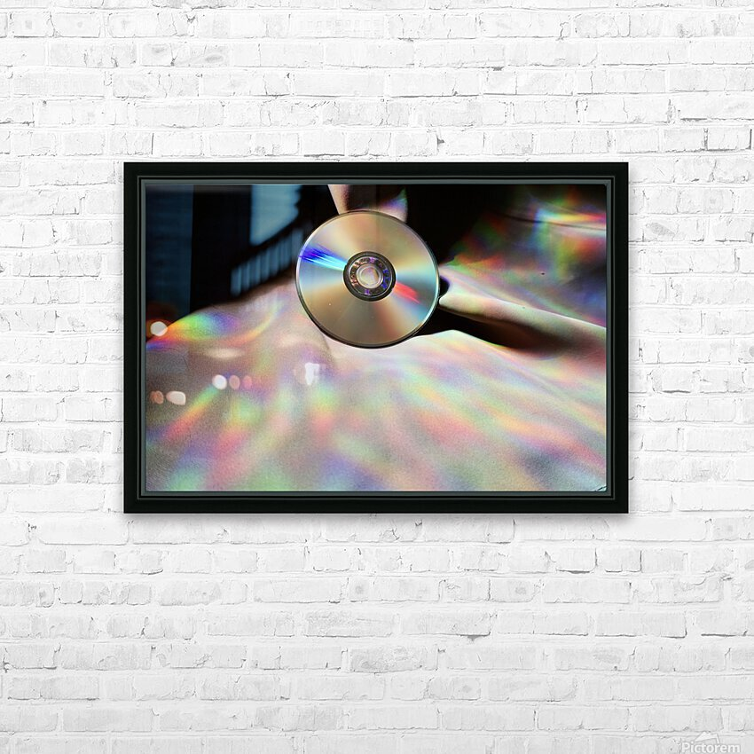 CD Rainbows HD Sublimation Metal print with Decorating Float Frame (BOX)