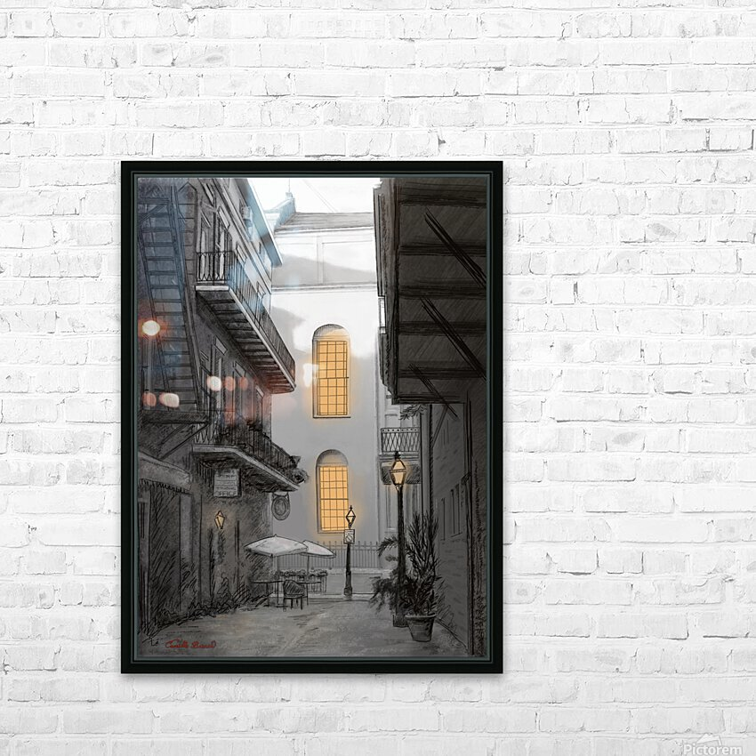 Light in the alley a French quarter scene HD Sublimation Metal print with Decorating Float Frame (BOX)