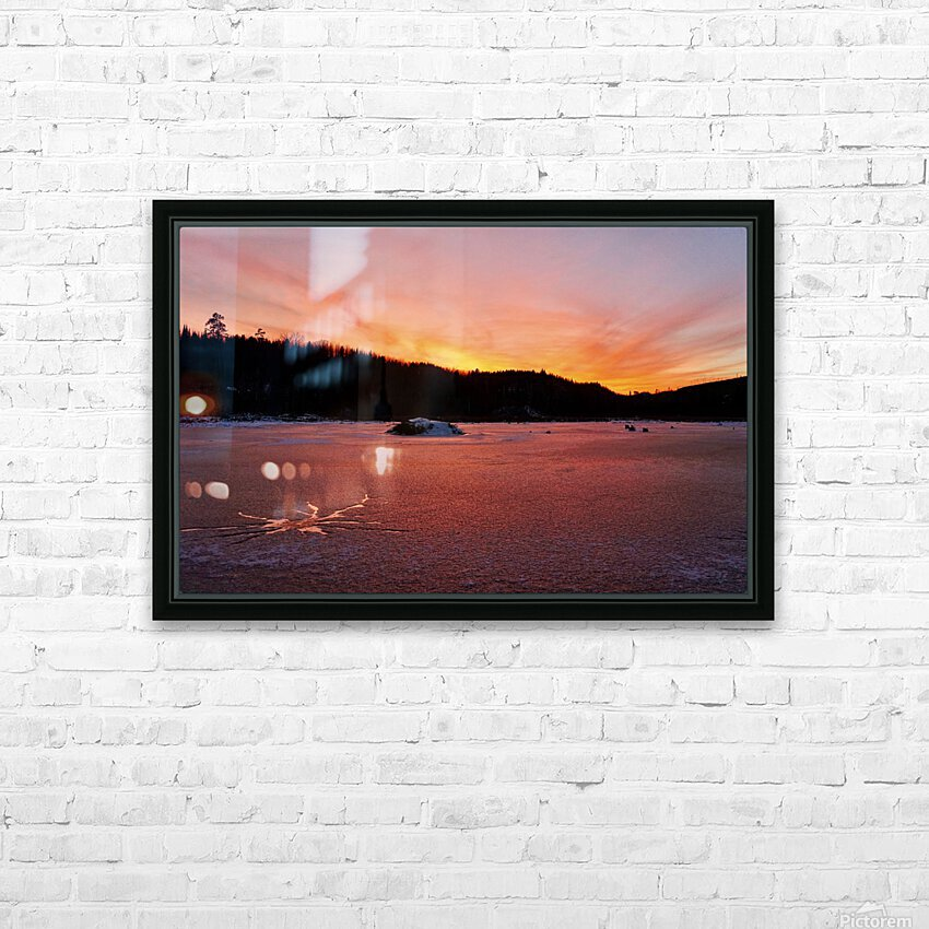 Scenic Fiery North Shore Sunset HD Sublimation Metal print with Decorating Float Frame (BOX)