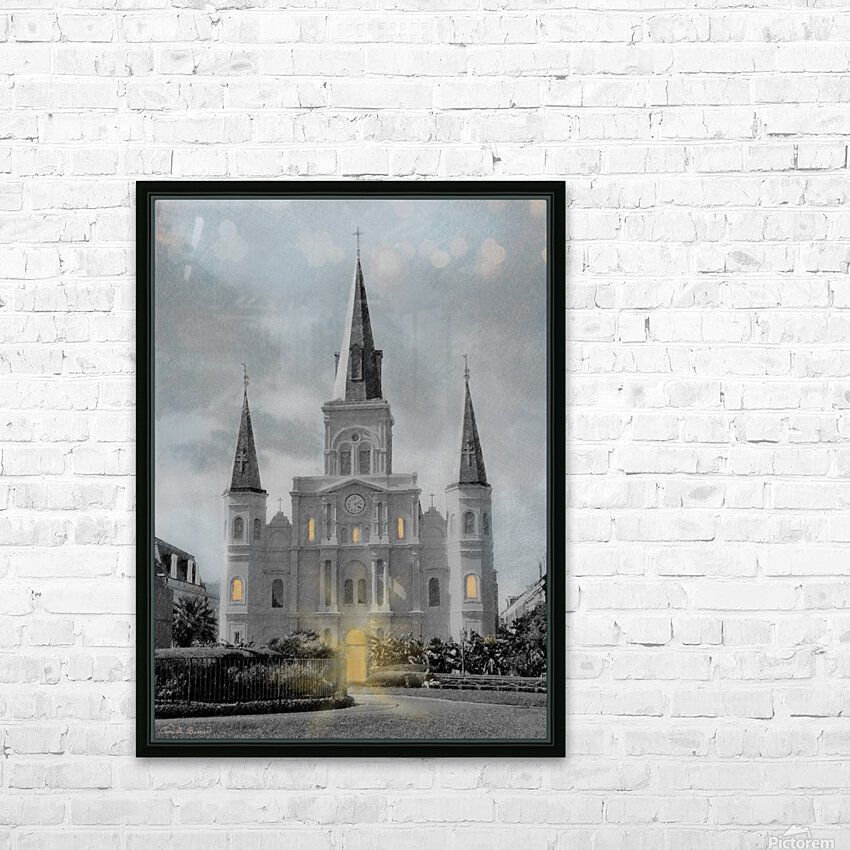 St Louis Cathedral - New Orleans HD Sublimation Metal print with Decorating Float Frame (BOX)
