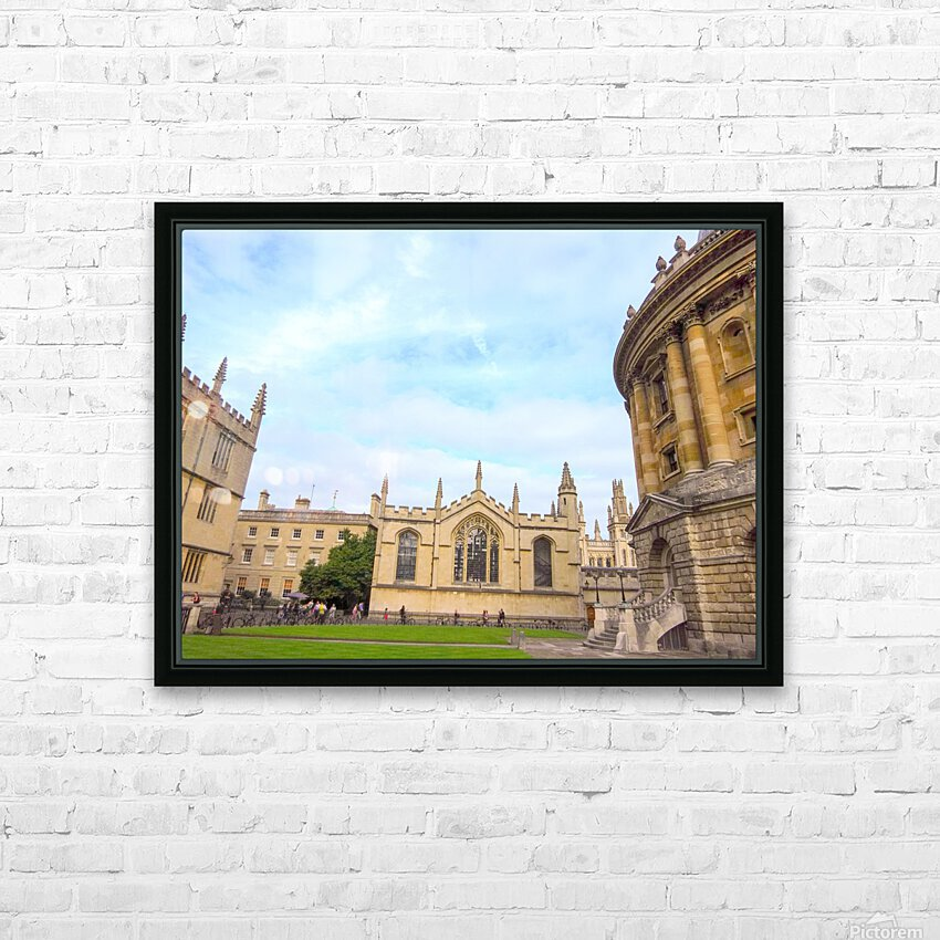 Snapshot in Time Presents a Visit to Oxford 2 of 8 HD Sublimation Metal print with Decorating Float Frame (BOX)