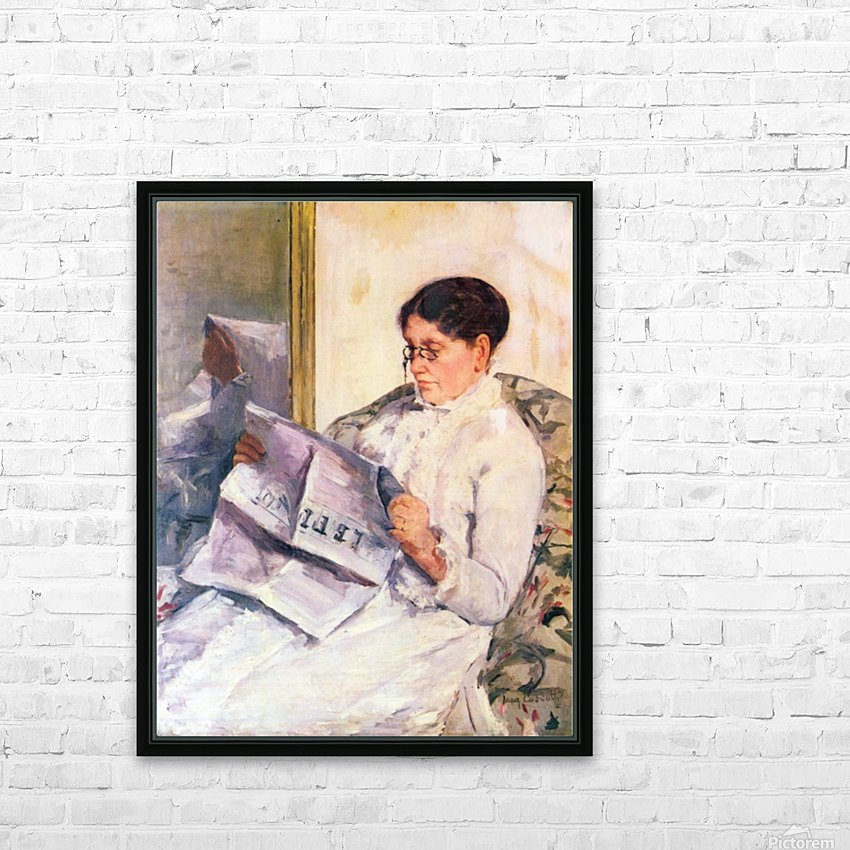 When reading of Figaro by Cassatt HD Sublimation Metal print with Decorating Float Frame (BOX)