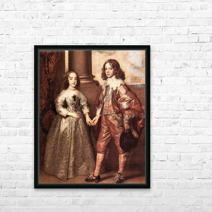 William of Orange with his future bride by Van Dyck HD Sublimation Metal print with Decorating Float Frame (BOX)