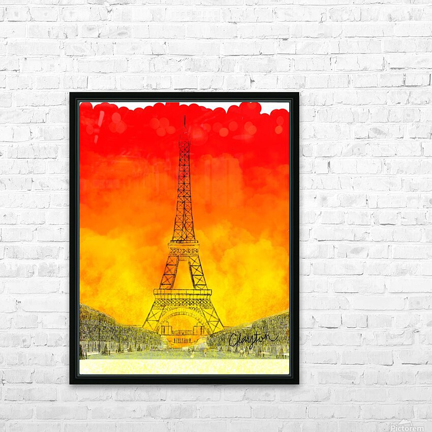 Eiffel Tower. Clayton T HD Sublimation Metal print with Decorating Float Frame (BOX)