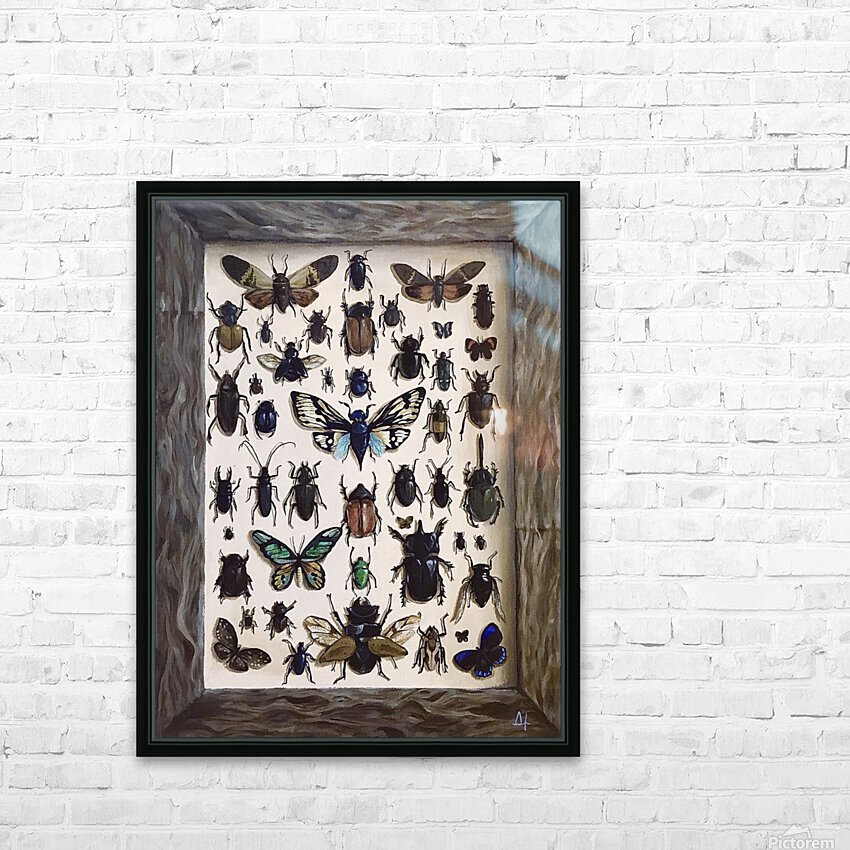 Beetles HD Sublimation Metal print with Decorating Float Frame (BOX)