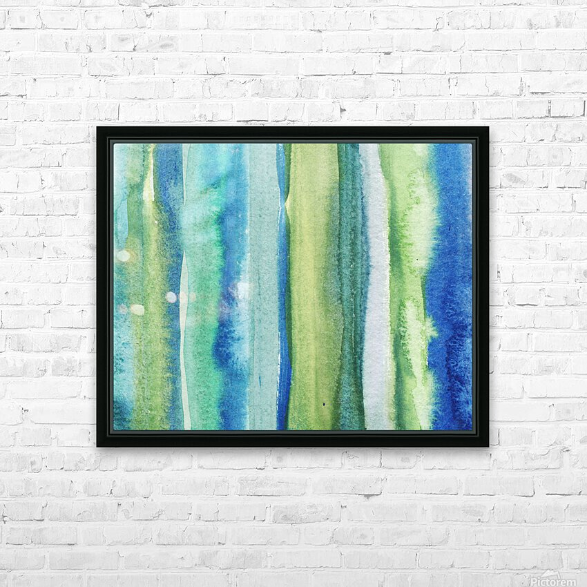 Ocean And Sea Beach Coastal Art Organic Watercolor Abstract Lines I HD Sublimation Metal print with Decorating Float Frame (BOX)