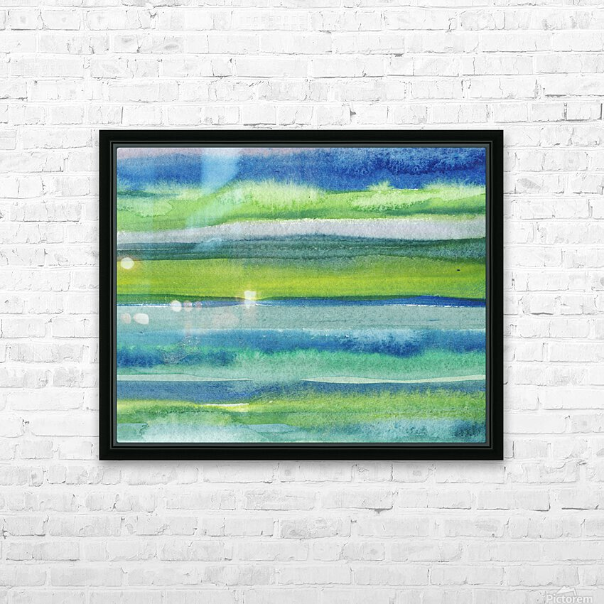 Ocean And Sea Beach Coastal Art Organic Watercolor Abstract Lines II HD Sublimation Metal print with Decorating Float Frame (BOX)