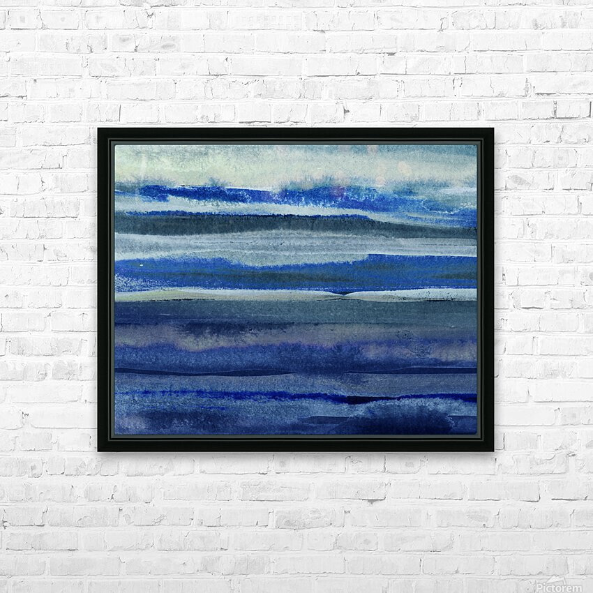 Ocean And Sea Beach Coastal Art Organic Watercolor Abstract Lines III HD Sublimation Metal print with Decorating Float Frame (BOX)