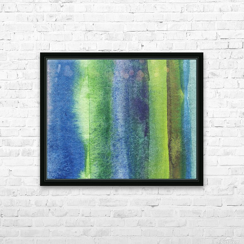 Ocean And Sea Beach Coastal Art Organic Watercolor Abstract Lines IV HD Sublimation Metal print with Decorating Float Frame (BOX)