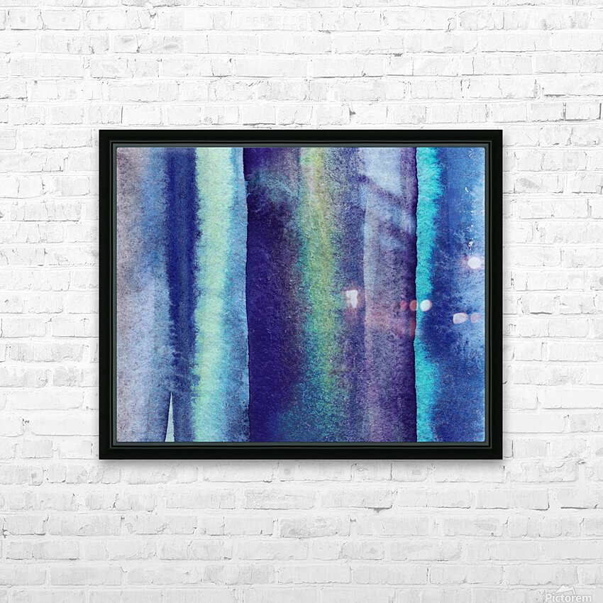 Ocean And Sea Beach Coastal Art Organic Watercolor Abstract Lines V HD Sublimation Metal print with Decorating Float Frame (BOX)