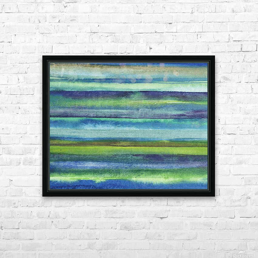 Ocean And Sea Beach Coastal Art Organic Watercolor Abstract Lines VI HD Sublimation Metal print with Decorating Float Frame (BOX)